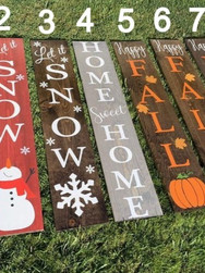 12x48 Holiday Porch Signs