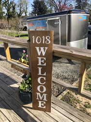 12x48 House Number Porch Sign