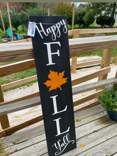 12x48 Happy Fall Ya'll Porch Sign