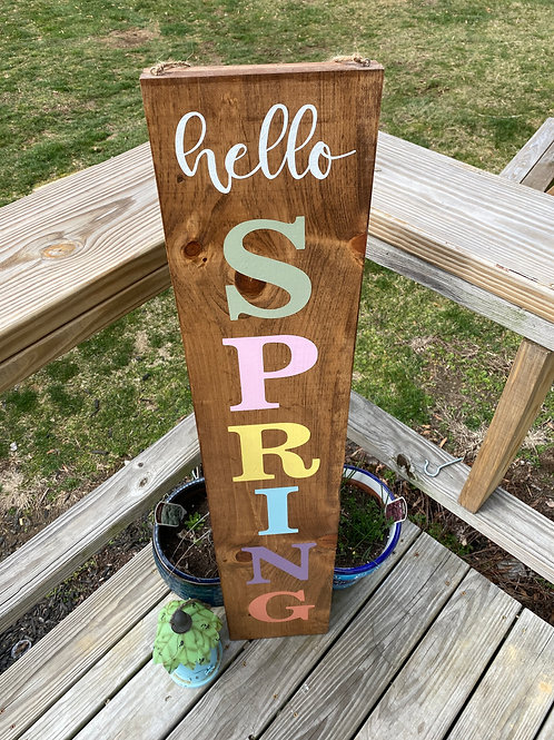 Double sided Welcome Porch Sign 12x48