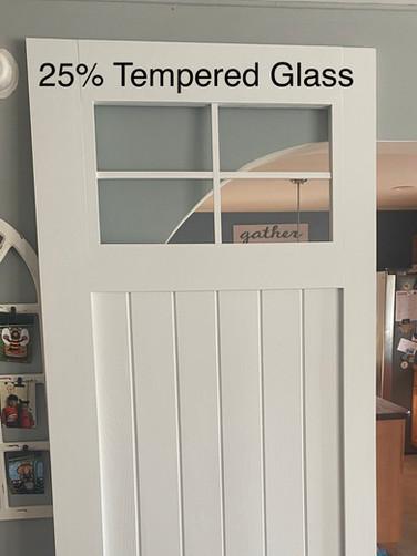 Three Brace Tempered Glass Quarter