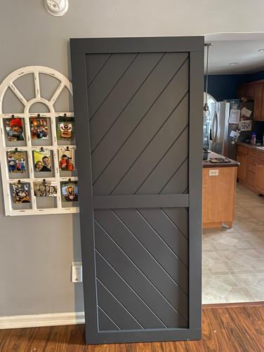 Onyx Chevron Style Barn Door