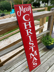 12x48 Merry Christmas Porch Sign