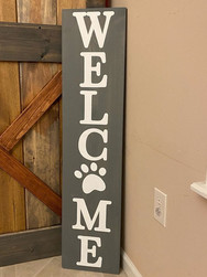 12x48 Welcome Paw Porch Sign