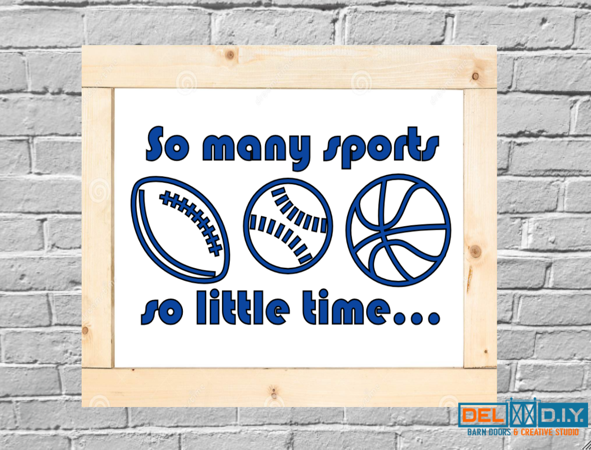 So many sports so little time...