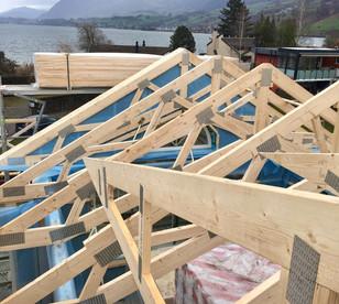 Aufbautag Dachgeschoss