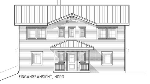 Fassadenplan Nord
