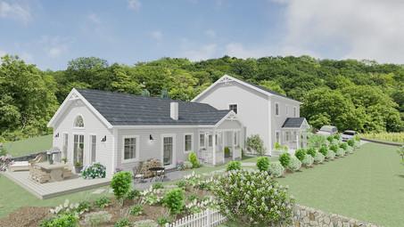Doppelfamilienhaus im New England Stil