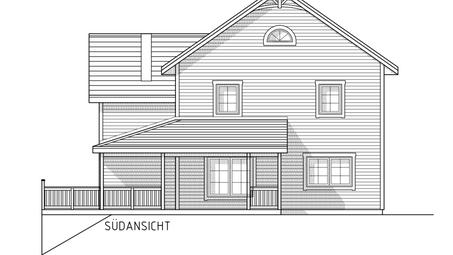 Fassadenplan Süd