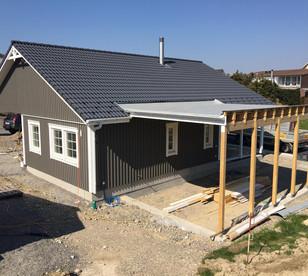 Carport für Wohnmobil im Bau