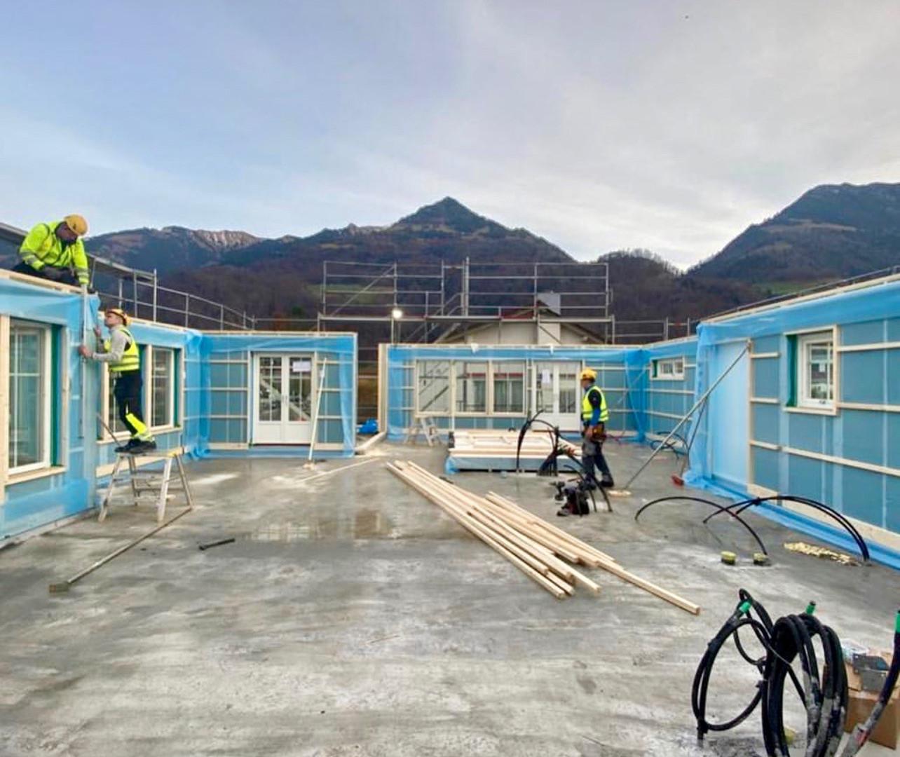 Aufbautag Erdgeschoss