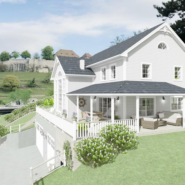 New England Haus im Mittelland