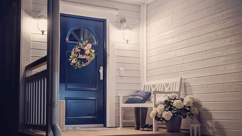 Eingang in das wunderschöne New England Haus