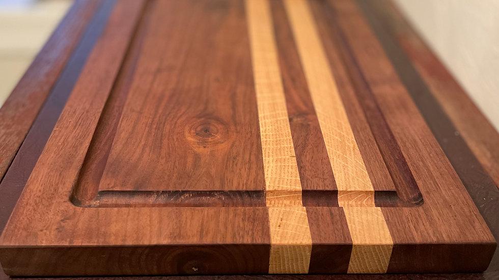 Black Walnut and Oak Cutting Board