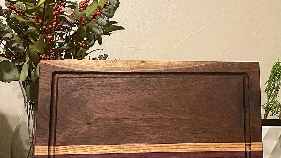 Purpleheart & Black Walnut Cutting Board