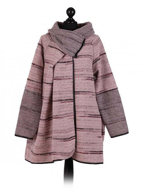 Italian Stripy Woollen Coatigan