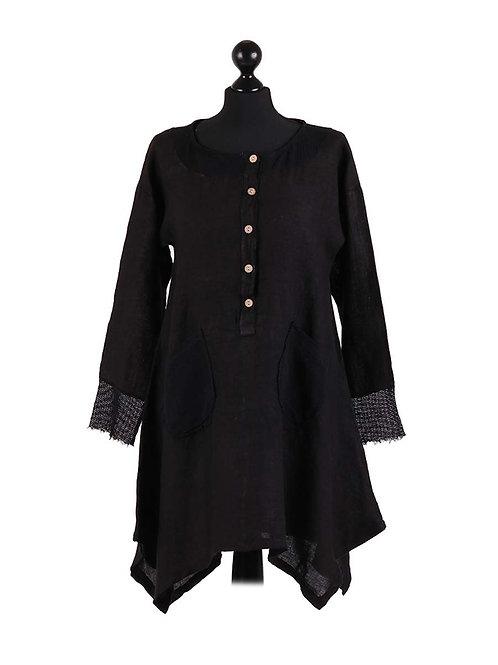Italian Mesh Net Tunic Cotton Top