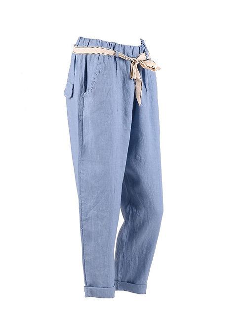 Italian Plain Linen Trouser