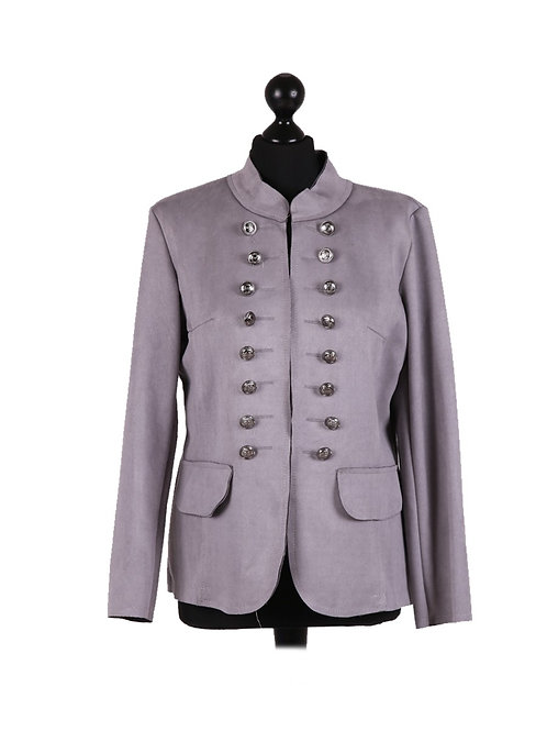 Italian Front Buttons Lagenlook Short Coat