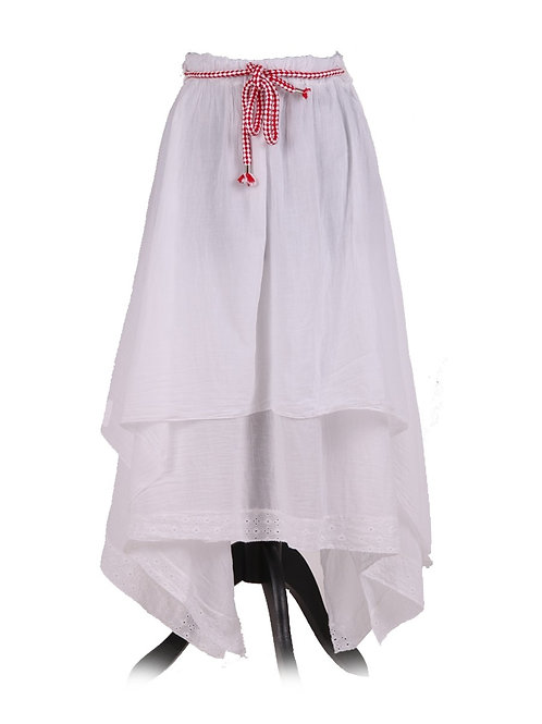 Italian 2 Layer Crochet Hem Cotton Skirt