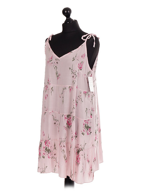 Floral Gathered Strappy Swing Top