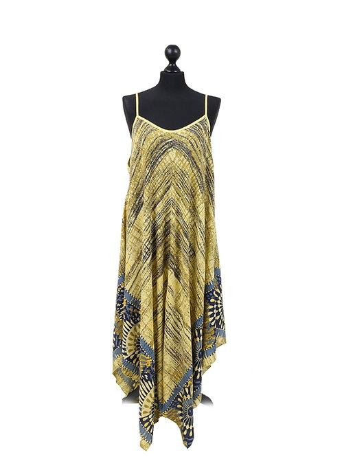 Italian Floral Print Cami Tunic Lagenlook Dress
