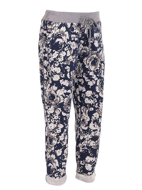 Italian Printed Cotton Trouser