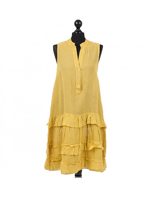 Italian Sleeveless Cotton Lagenlook Dress