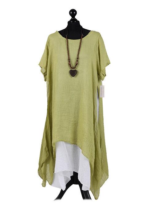 Italian 2 Piece Linen Dress