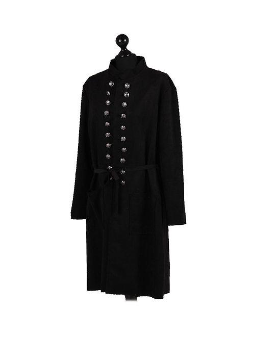 Italian Front Buttons Lagenlook Long Coat