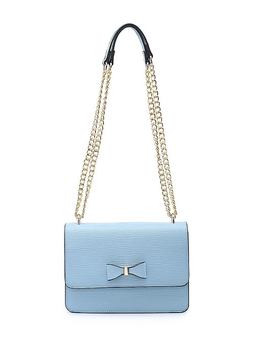 Cross Body Bag with Bow and Chain