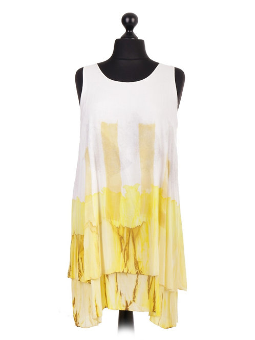 Italian Tie and Dye Two Layered Sleevelss Top