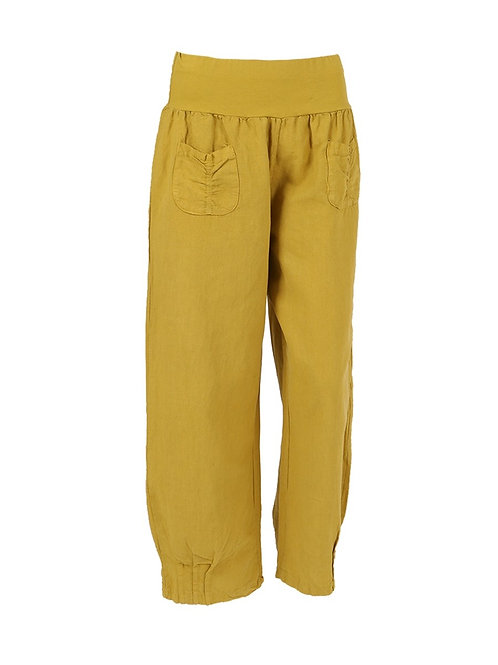 Italian Front Pocket Linen Trouser