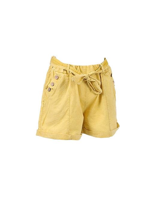 Italian Acid Dye Linen Shorts