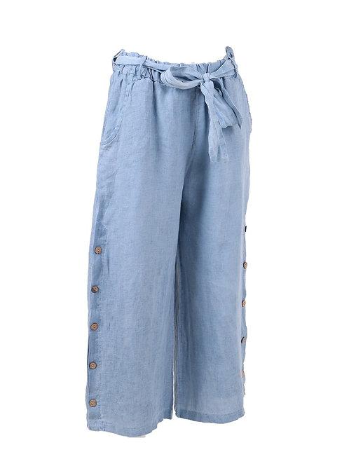 Italian Plain Ladies Cold Wash Linen Trouser