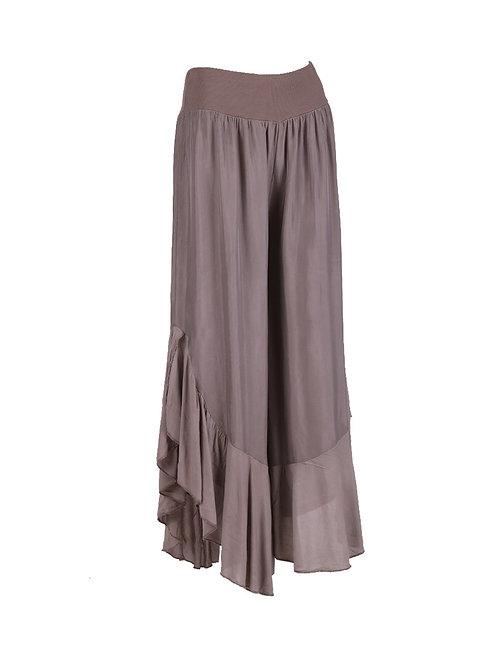 Italian Bell Bottom Silk Trouser