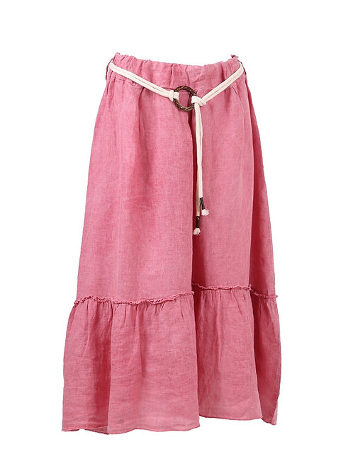 Italian Acid Dye Linen Skirt