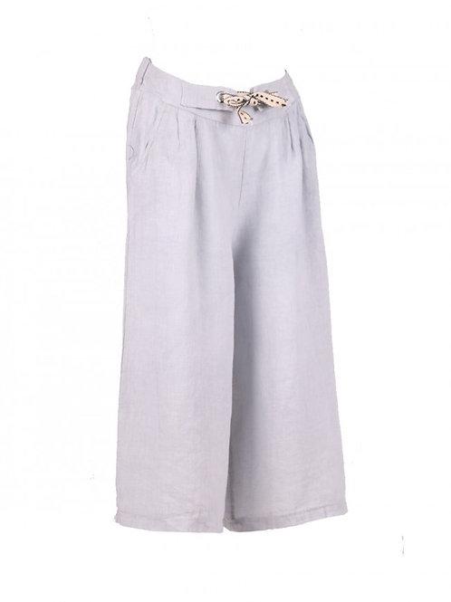Italian Plain Linen Culottes