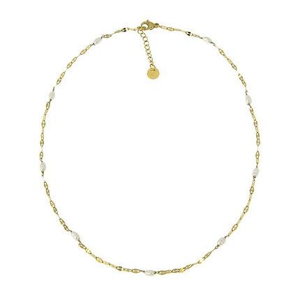Collier court perles d'eau douce