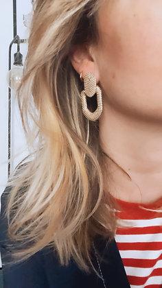 Boucles d'oreilles vintage perlées