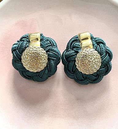 Boucles d'oreilles vertes vintage