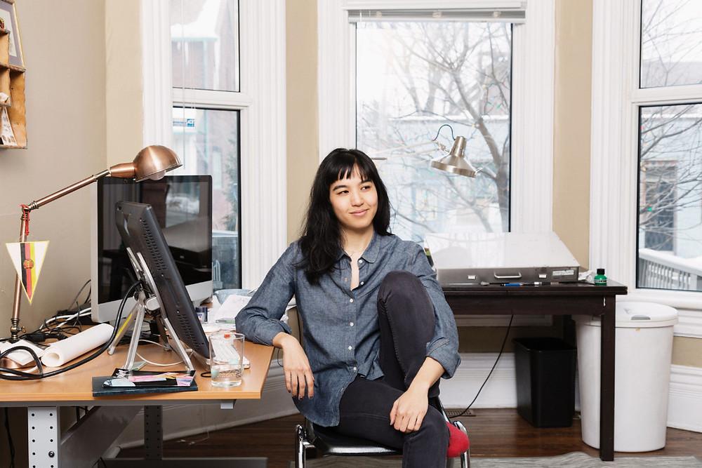 Photo of artist and author Jillian Tamaki