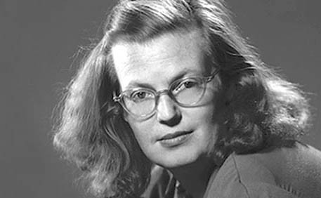 "Photo of Shirley Jackson, author of ""The Lottery."""