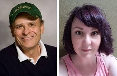 Photos of Tim O'Brien and Kristi Rabe.