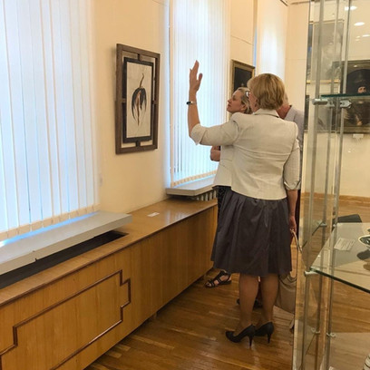 """Участие в первой биеннале современного искусства  """"Арт-коллаборации. Синтез искусств"""". 2019 г."""