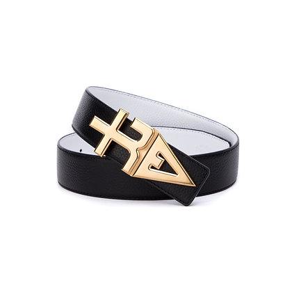 tREv Leather Belt - Gold