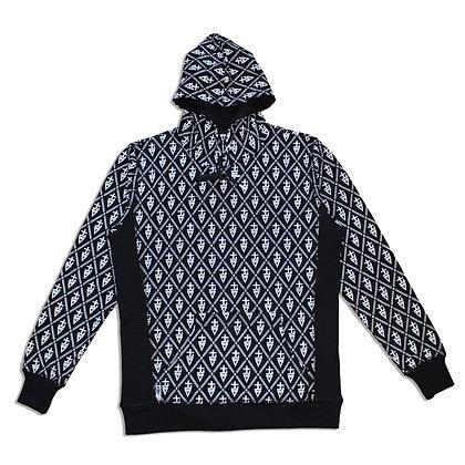 tREv Monogram Hoodie - BLACK