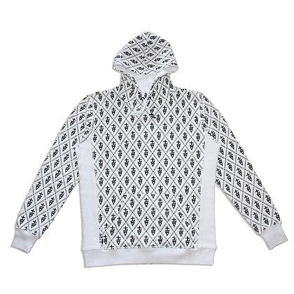 tREv Monogram Hoodie - WHITE
