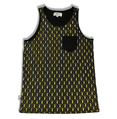 tREv Monogram Tank - Black/Gold