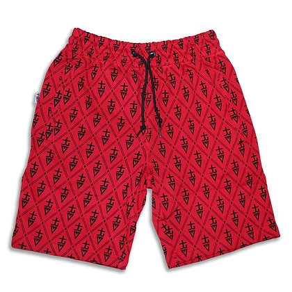 Monogram tREv Shorts - Red/Black